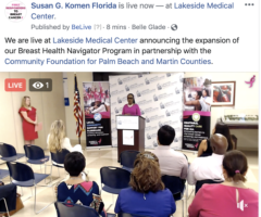 Breast Health Navigator Program Expansion Announcement