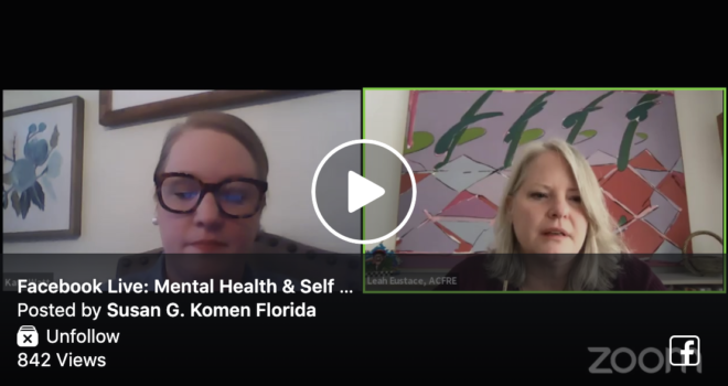 Facebook Live: Mental Health & Self Care in the Age of COVID-19